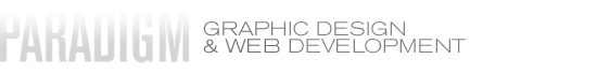 Paradigm Graphic Design and Web Development Logo